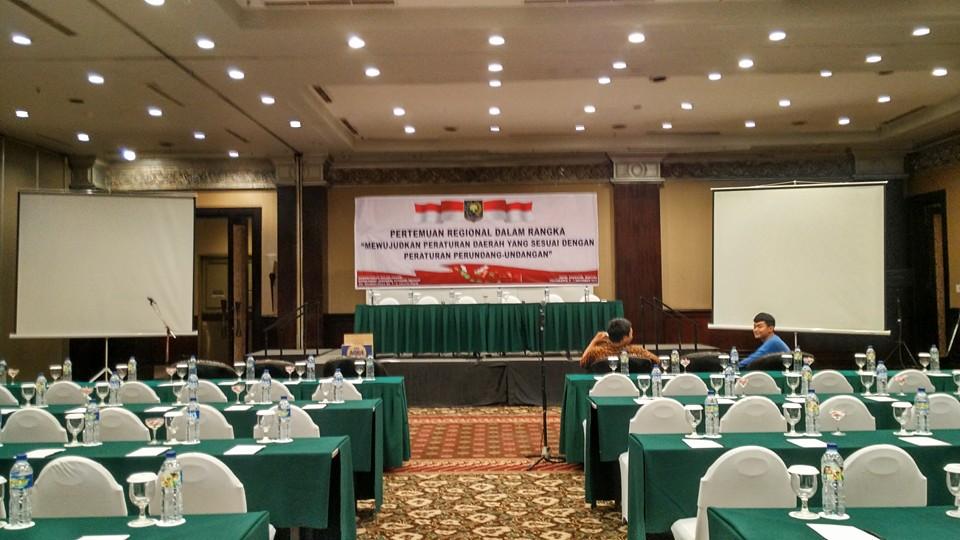 Sewa Pada Rapat Kementrian Dalam Negeri Republik Indonesia di Sheraton Yogyakarta